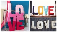 DIY Decorative Yarn Letters Tutorial