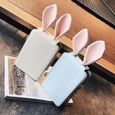 6 Inches Cellphone Women Cute Rabit Ear Pu Leather Crossbody Bag - US$19.91