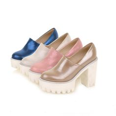 Fashion Women's Block High Wedge Heel Platform Pump Casual Sandals Creeper Shoes