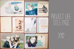@marcypenner: Project LIfe Title Page 2012