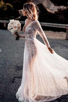 30 Magical Long Sleeve Wedding Dresses For Your Wedding - Translucent Crystal Wedding Dress ★ All types of long sleeve wedding dresses for brides with most exquisite tastes can. Black Wedding Dresses, Wedding Dress Sleeves, Designer Wedding Dresses, Bridal Dresses, Bridesmaid Dresses, Dress Wedding, Lace Dresses, Elegant Dresses, Sexy Dresses