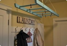 ladder - great idea for drying clothes!