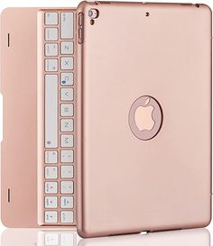 Amazon.com: iPad Keyboard Case for iPad Pro 9.7 Inch, New 2018 iPad, 2017 iPad, iPad Air 1 and 2 Bluetooth Keyboard with 130° Smart Folio Hard Back Cover, Ultra Slim, Auto Wake and Sleep - Rose Gold : Electronics