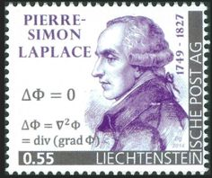 Liechtenstein - Pierre-Simon, marquis de Laplace (1749 – 1827) was an influential French scholar whose work was important to the development of mathematics, statistics, physics, and astronomy. His Mécanique Céleste (Celestial Mechanics) translated the geometric study of classical mechanics to one based on calculus. He developed the Bayesian interpretation of probability. He formulated Laplace's equation, and pioneered the Laplace transform which appears in many branches of mathematical…