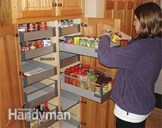 75 RV Kitchen Accessories for Your Family Trip Awesome 05 - Home & Decor Kitchen Cabinet Storage, Cabinet Drawers, Kitchen Drawers, Kitchen Organization, Kitchen Cabinets, Organization Ideas, Ikea Drawers, Kitchen Shelves, Kitchen Pantry
