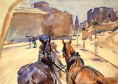 The Athenaeum - Driving in Spain (John Singer Sargent - )