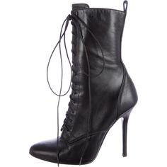 Pre-owned Giuseppe Zanotti x Balmain Leather Pointed-Toe Ankle Boots ($175) ❤…