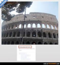 Plaza de toros de Roma. Aprendiendo cultura en Facebook.