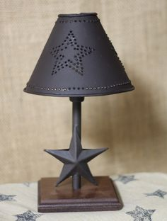 Star Table Lamp $37.95 / Like us on Facebook!  https://www.facebook.com/AllysonsPlaceDecor / #Primitive #country #Cabin