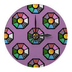 Painted Ba-Gua Tiled Pattern Wallclock from TheElementalHome* - $26.15