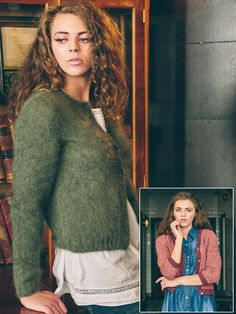 Kate - Knit this Womans stocking stitch cardigan from Rowan Loves.A design by Sarah Hatton using either the gorgeous Kidsilk Haze or beautiful Felted Tweed,can be knitted with either long sleeves or 3/4 sleeves with either a round or v -neck. This knitting is for a beginner knitter