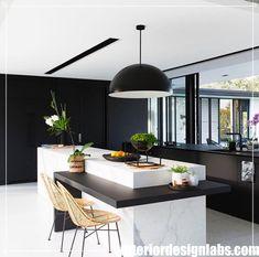 44 Inspiring Design Ideas for Modern Kitchen Cabinets - The Trending House Modern Kitchen Cabinets, Painting Kitchen Cabinets, Modern Kitchen Design, Kitchen Decor, Kitchen Dining, Dining Room, Modern Kitchens, Kitchen Appliances, Best Interior Design
