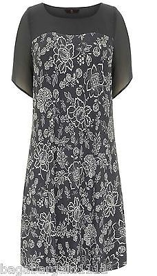 NEW EVANS LADIES GREY IVORY WHITE FLORAL SUMMER TUNIC DRESS TOP PLUS SIZE BLOUSE - http://pandorasecretsonline.com/new-evans-ladies-grey-ivory-white-floral-summer-tunic-dress-top-plus-size-blouse/