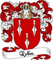 Robin Coat of Arms  Robin Family Crest   VIEW OUR FRENCH COAT OF ARMS / FRENCH FAMILY CREST PRODUCTS HERE