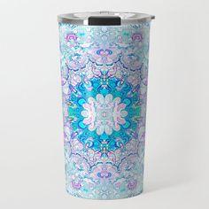 Lacy Mandala Travel Mug by beebeedeigner Best Water Bottle, Stay Hydrated, Drinking Water, Travel Mug, Mandala, Mugs, Inspiration, Design, Art