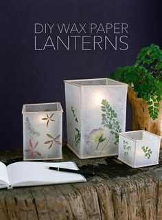 DIY Wax Paper Lantern Project