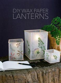 DIY Wax Paper Lantern Project