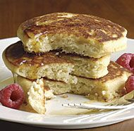 #GlutenFree Buttermilk Pancakes - best recipe I've tried so far. uses almond and rice flour instead of corn starch.