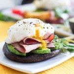 Poached Egg on Portebello   by Sonia! The Healthy Foodie