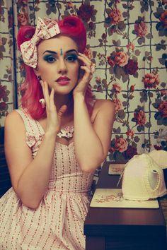 Pink lolita dress . Sweet lolita, country lolita. £55.00, via Etsy.