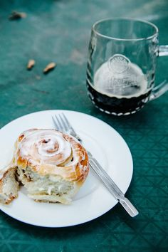 A recipe for buttermilk cinnamon rolls with cream cheese glaze.