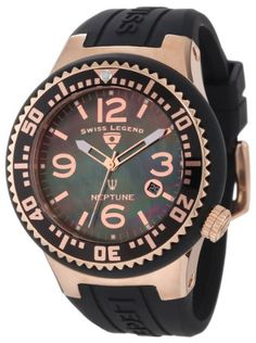 Swiss Legend Men's 21848P-RG-01-MOP Neptune Black Mother-Of-Pearl Dial Watch - http://www.specialdaysgift.com/swiss-legend-mens-21848p-rg-01-mop-neptune-black-mother-of-pearl-dial-watch/
