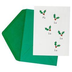 Holly Jolly Greeting Cards....Fa La La La La La La La La!