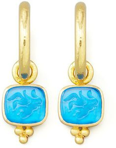 Elizabeth Locke Peacock Pegasus, Goddess & Moon Intaglio Earring Pendants on shopstyle.com