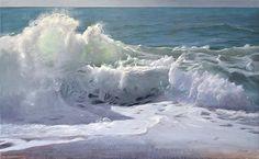 Fine art gallery in Houston Ocean Art, Ocean Beach, Seascape Paintings, Landscape Paintings, Art Paintings, Sea Waves, Beach Scenes, Painting Inspiration, Art Inspo