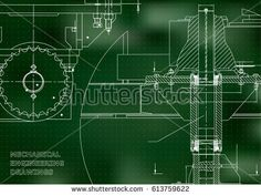 Blueprints. Engineering backgrounds. Mechanical engineering drawings. Cover. Banner. Technical Design. Green. Points  #bubushonok #art #bubushonokart #design #vector #shutterstock  #technical #engineering #drawing #blueprint   #technology #mechanism #draw #industry #construction #cad