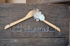 Bridesmaid wire Hanger for bridesmaid Dress by WeddingDistinct, $19.00