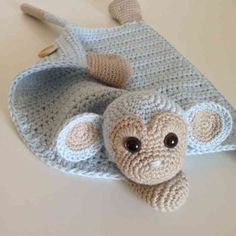 Stricken - Leads For Amigurumi Baby Knitting Patterns, Baby Hats Knitting, Amigurumi Patterns, Crochet Patterns, Crochet Monkey, Cute Crochet, Crochet For Kids, Crochet Dolls, Lovey Blanket