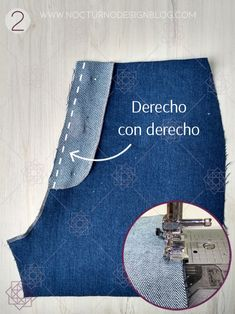 Cómo coser la cremallera para jean – Nocturno Design Blog Sewing Projects For Beginners, Sewing Tutorials, Mens Sewing Patterns, Diy Clothes, Clothes For Women, Sewing Pants, Couture Looks, Design Blog, Pants Pattern