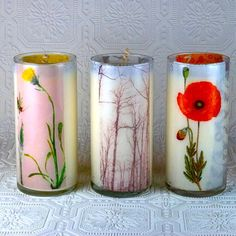 Make dried flower candles with this step-by-step.