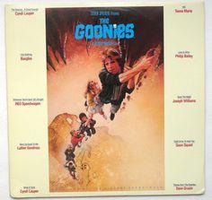 "Rare ""The Goonies"" Vinyl Soundtrack LP Cyndi Lauper (1985) - Very Good Condition"