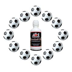 Foosball Tables for Kids - Game Room Guys Soccer Foosballs and Silicone 4oz Bottle with No Spill Applicator Kit -- Read more reviews of the product by visiting the link on the image.