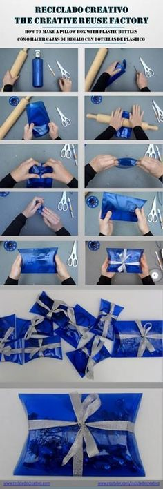 how to make a pillow box from plastic bottle: