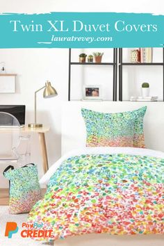 Decorate your dorm room with our stylish Twin XL duvet covers and comforter sets. SHOP our colorful college dorm bedding sets on sale now! Dorm Room Bedding, College Dorm Bedding, College Dorm Rooms, Neutral Bedding, Yellow Bedding, Dorm Room Necessities, Room Essentials, Hacks, Dorm Room Designs