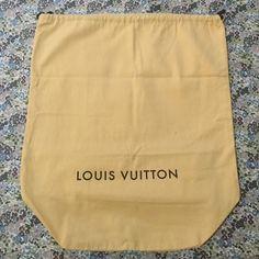 """Louis Vuitton Dust Bag Large Sized Bucket Shaped Louis Vuitton Dust Bag with Drawstring Closure. Measures 18""""x20"""" Louis Vuitton Bags"""
