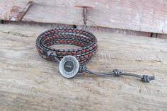 Chan Luu Style 3x Leather Wrap Bracelet 2x Wrap Anklet
