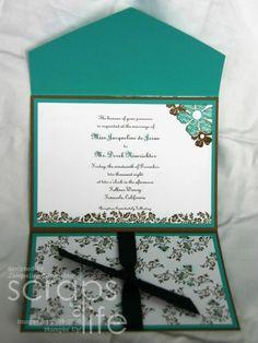 Vintage Vogue Stampin Up Wedding Invitation
