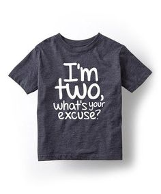 Another great find on #zulily! Heather Blue 'I'm Two' Tee - Toddler & Kids #zulilyfinds