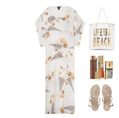 """""""Class Act Beach BBQ Attire!"""" by sereneowl ❤ liked on Polyvore featuring Melissa Odabash, We Are Handsome, Vita Liberata, Yves Saint Laurent, Nasty Gal and Havaianas"""
