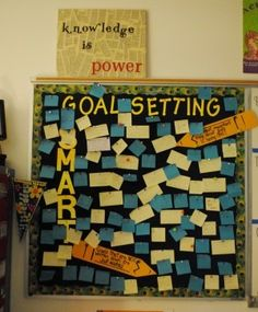 Goal Setting is going to be a school-wide focus next year. Here's a great idea a middle school teacher used. It's in the August 2011 section of her blog.