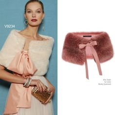 Sew the Look: Vogue Patterns V9234 faux fur stole