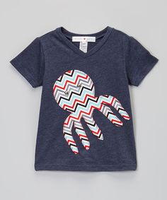 Do --- Loving this Blue Zigzag Octopus V-Neck Tee - Infant, Toddler & Boys on #zulily! #zulilyfinds