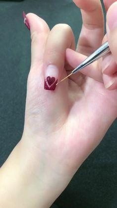 Heart Nail Designs, Nail Polish Designs, Acrylic Nail Designs, Nail Art Designs, Acrylic Nails, Cute Nail Art, Nail Art Diy, Cute Nails, Neutral Nails