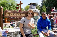 Keegan Allen and Keith Powers knew that had to experience the breathtaking ride that is Soarin' Around the World. They even gave us a little smolder in front of the attraction.