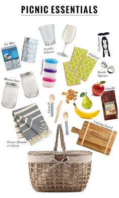 12 Picnic Essentials by World Market Picnic Date Food, Family Picnic, Picnic Time, Picnic Ideas, Beach Picnic Foods, Picnic Parties, Camping Ideas, Picnic Recipes, Healthy Picnic Foods