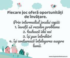 #Parenting #citate #copii #joacă #învățare Kids Behavior, Early Education, Kids And Parenting, Diy And Crafts, Kindergarten, Preschool, Moldova, Activities, Children